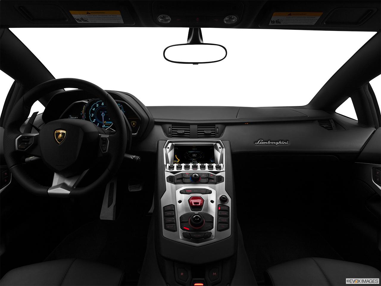 aventador white interior. 2014 lamborghini aventador coupe centered wide dash shot white interior