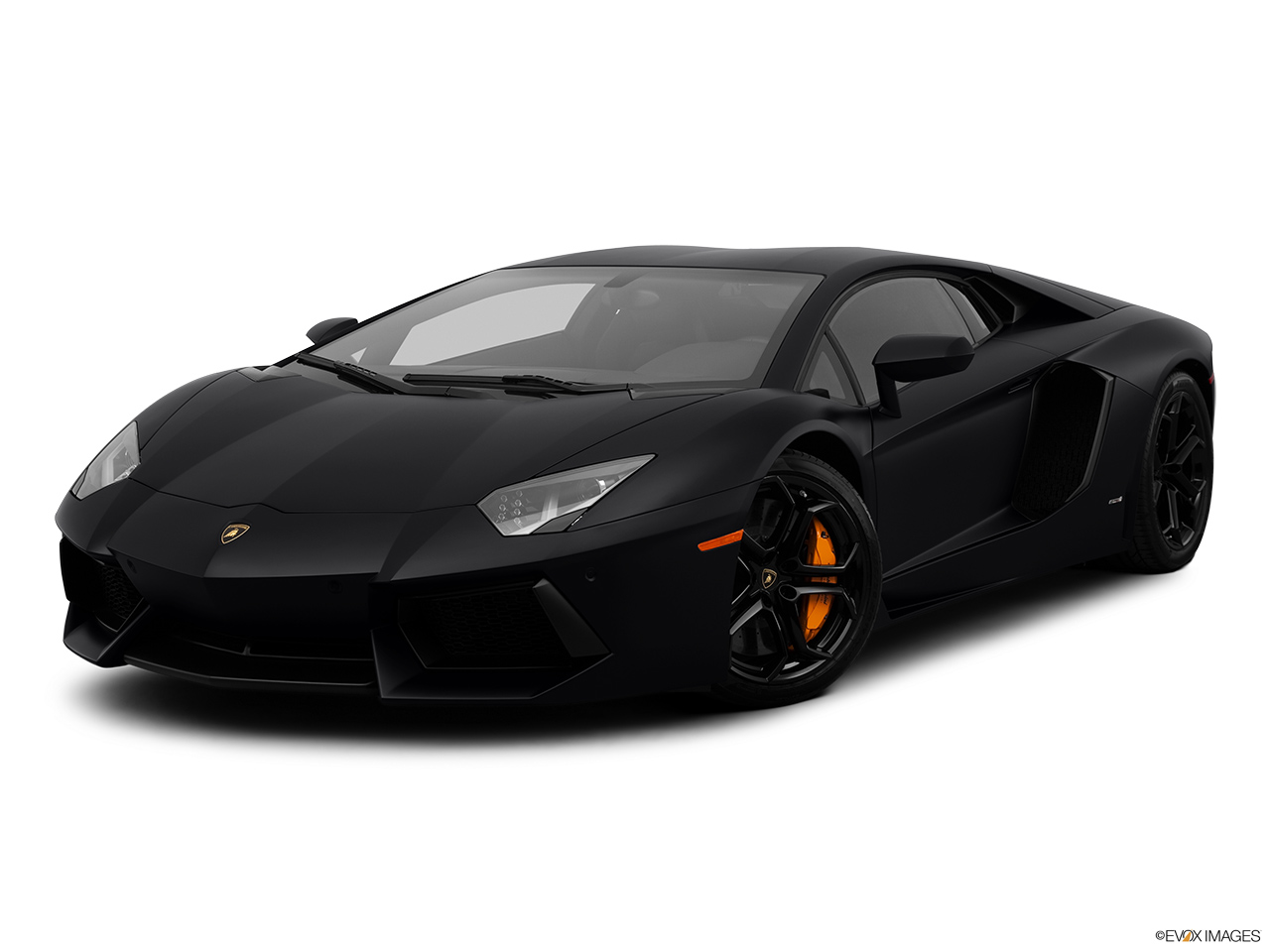 2013 Lamborghini Aventador Coupe Front Angle Medium View