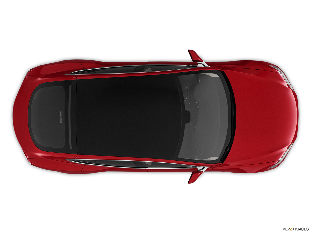 2013 Tesla Model S Sedan Overhead