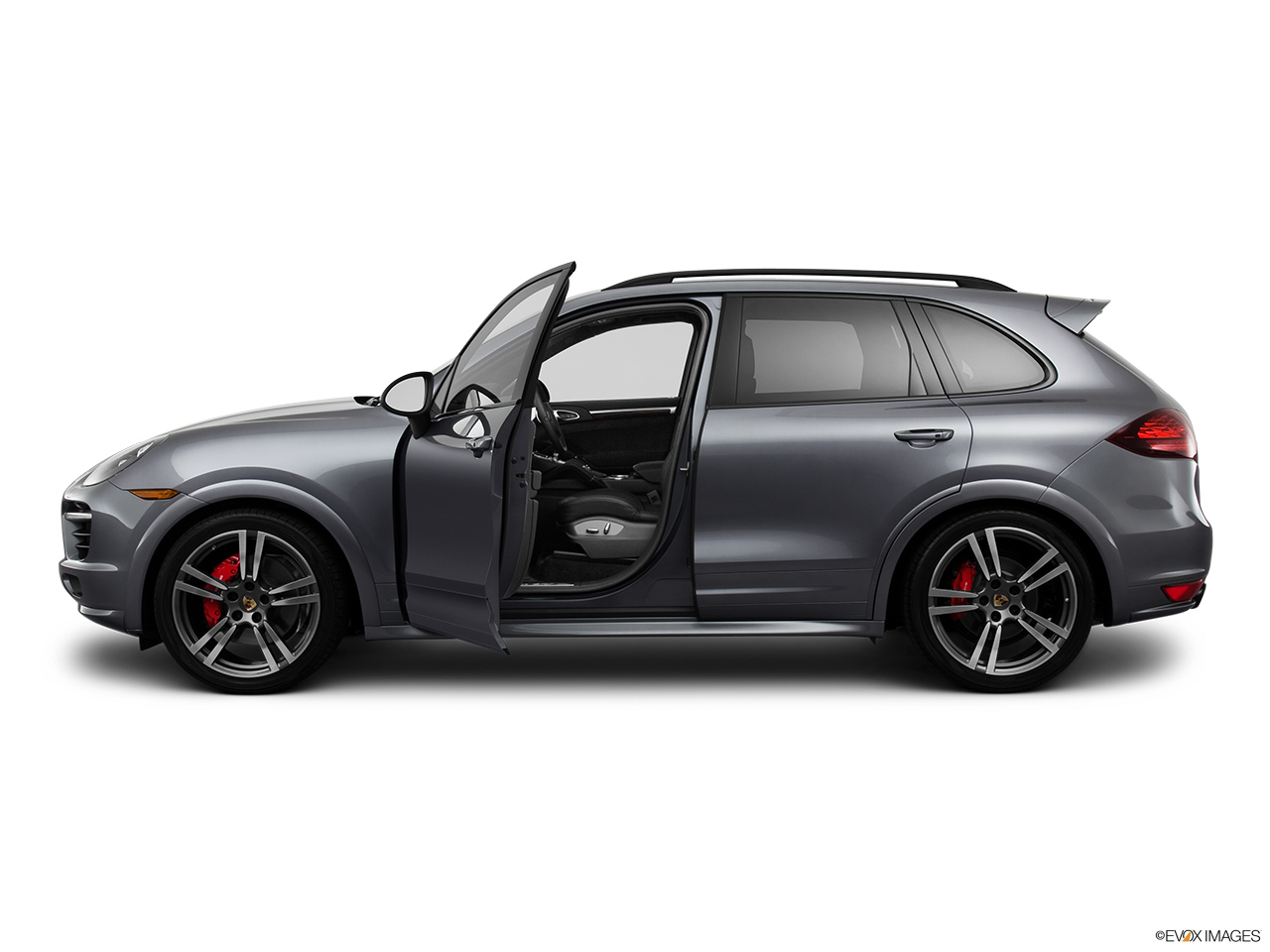 2015 porsche cayenne awd 4 door turbo drivers side profile with drivers side door open