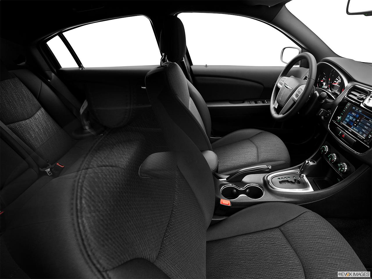 2014 chrysler 200 interior. 2014 chrysler 200 sedan touring fake buck shot interior from passenger b pillar