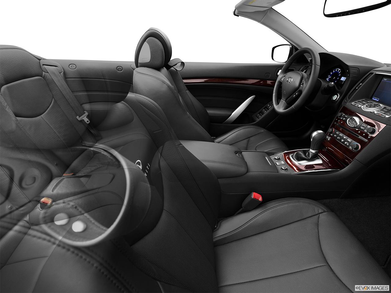 infiniti g37 convertible interior. 2013 infiniti g37 convertible 2 door base fake buck shot interior from passenger b