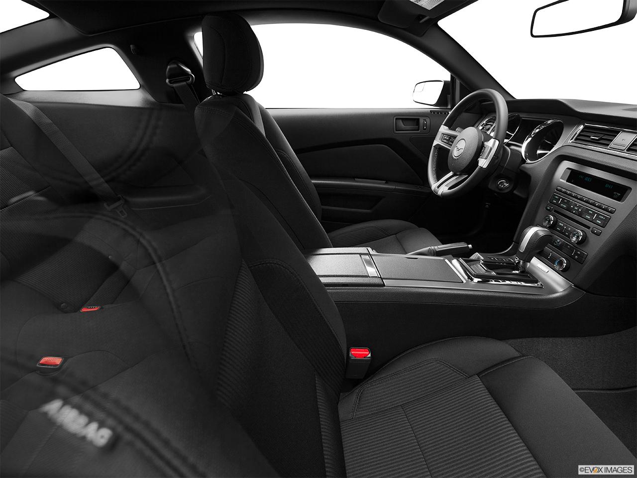 2014 ford mustang coupe v6 fake buck shot interior from passenger b pillar