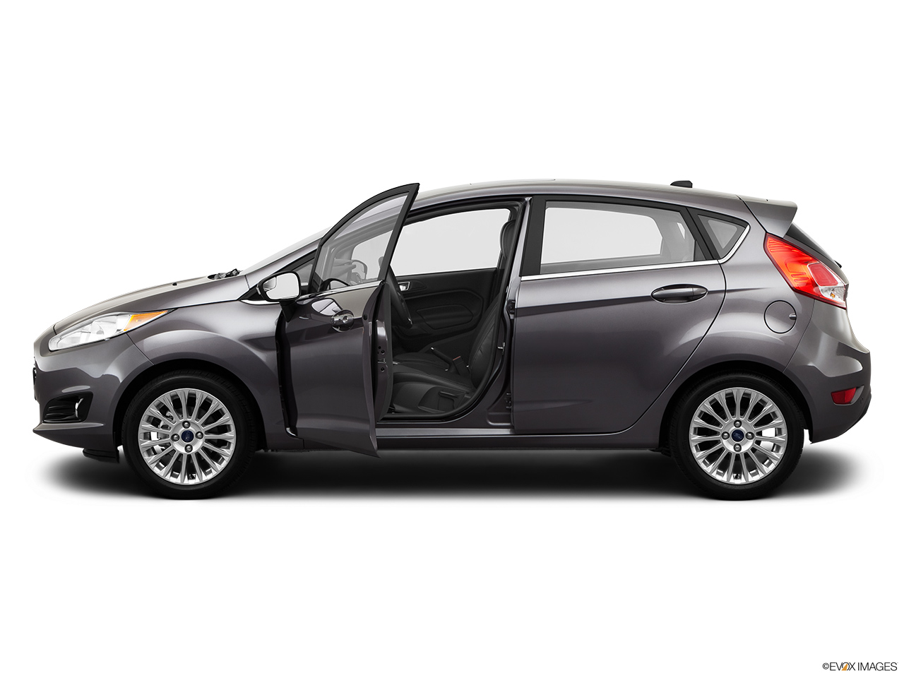 2014 Ford Fiesta 5dr Hatchback Titanium - Driver\u0027s side profile with drivers side door open