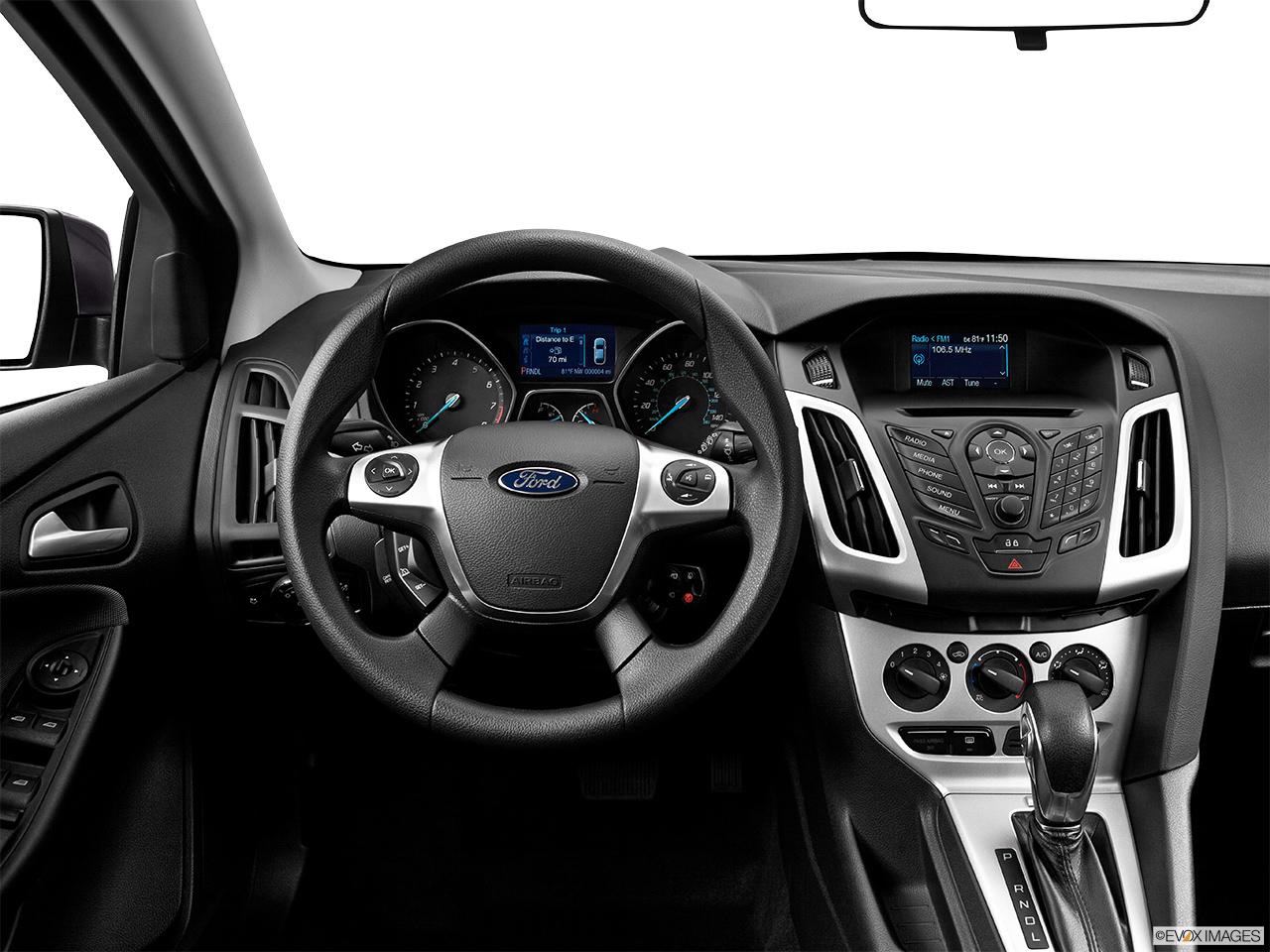 2014 Ford Focus 5dr Hatchback Se Steering Wheel Center