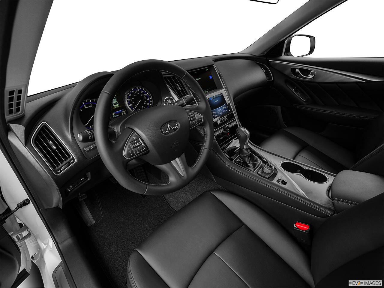 infiniti q50 white interior. 2015 infiniti q50 sedan awd interior hero driveru0027s side white
