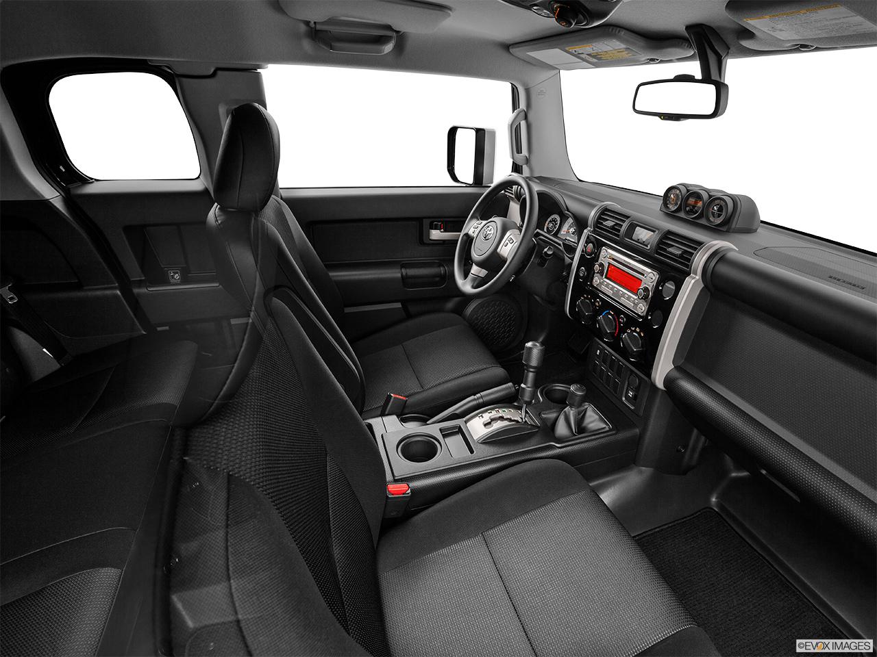 2014 toyota fj cruiser interior. 2014 toyota fj cruiser 4wd manual fake buck shot interior from passenger b pillar fj