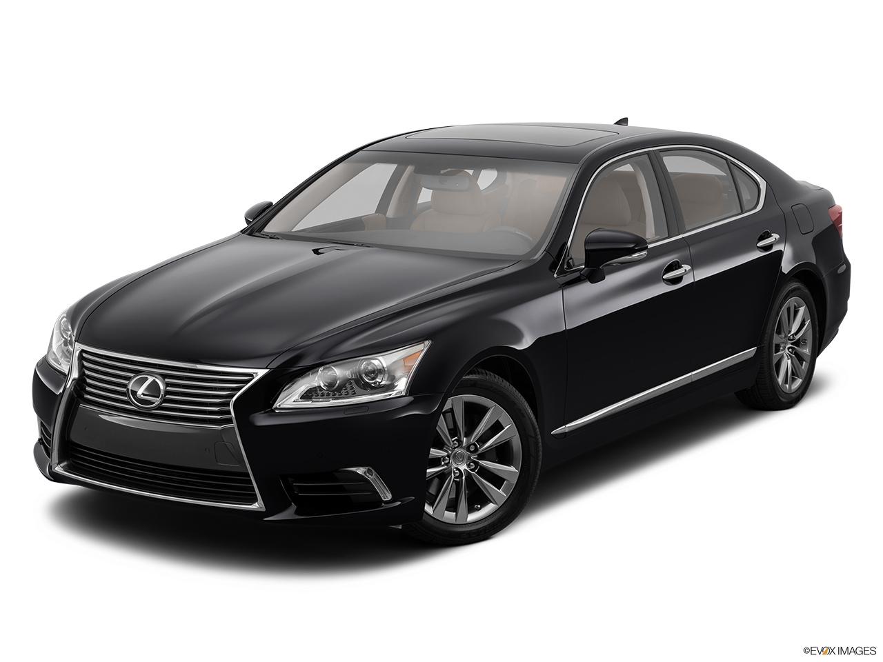 2014 lexus ls 600h l sedan hybrid front angle view