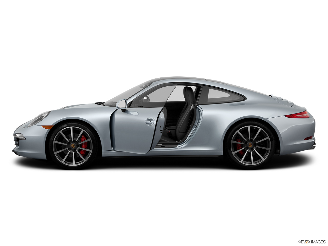 2014 porsche 911 coupe carrera 4 drivers side profile with drivers side door open