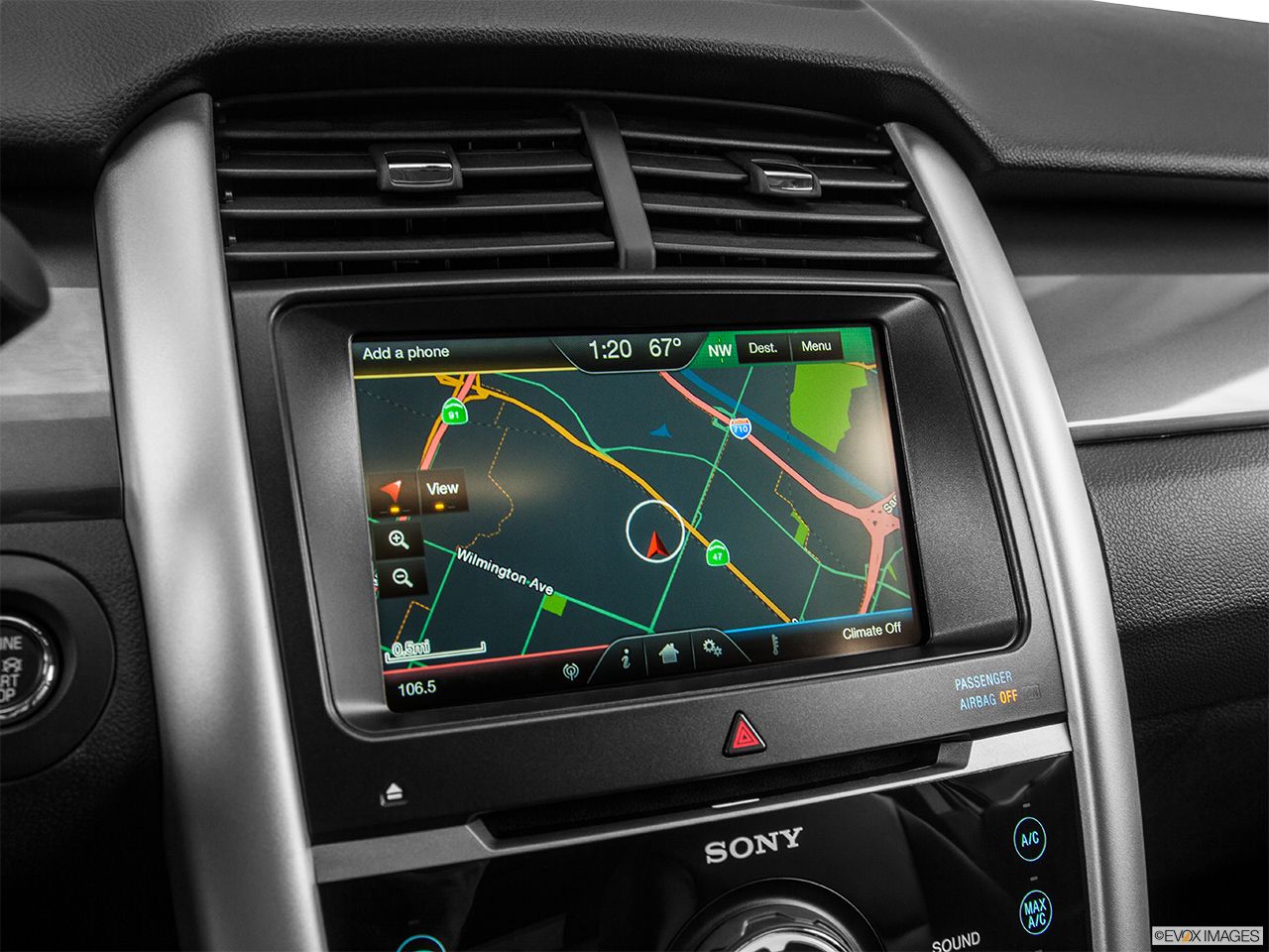 Ford Edge  Door Sport Awd Driver Position View Of Navigation System