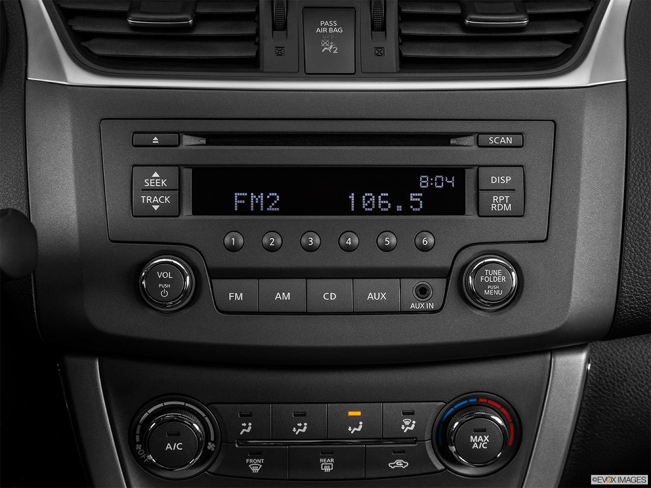 Nissan Sentra Sv >> 2015 Nissan Sentra I4 CVT SV Sedan - Closeup of radio head unit