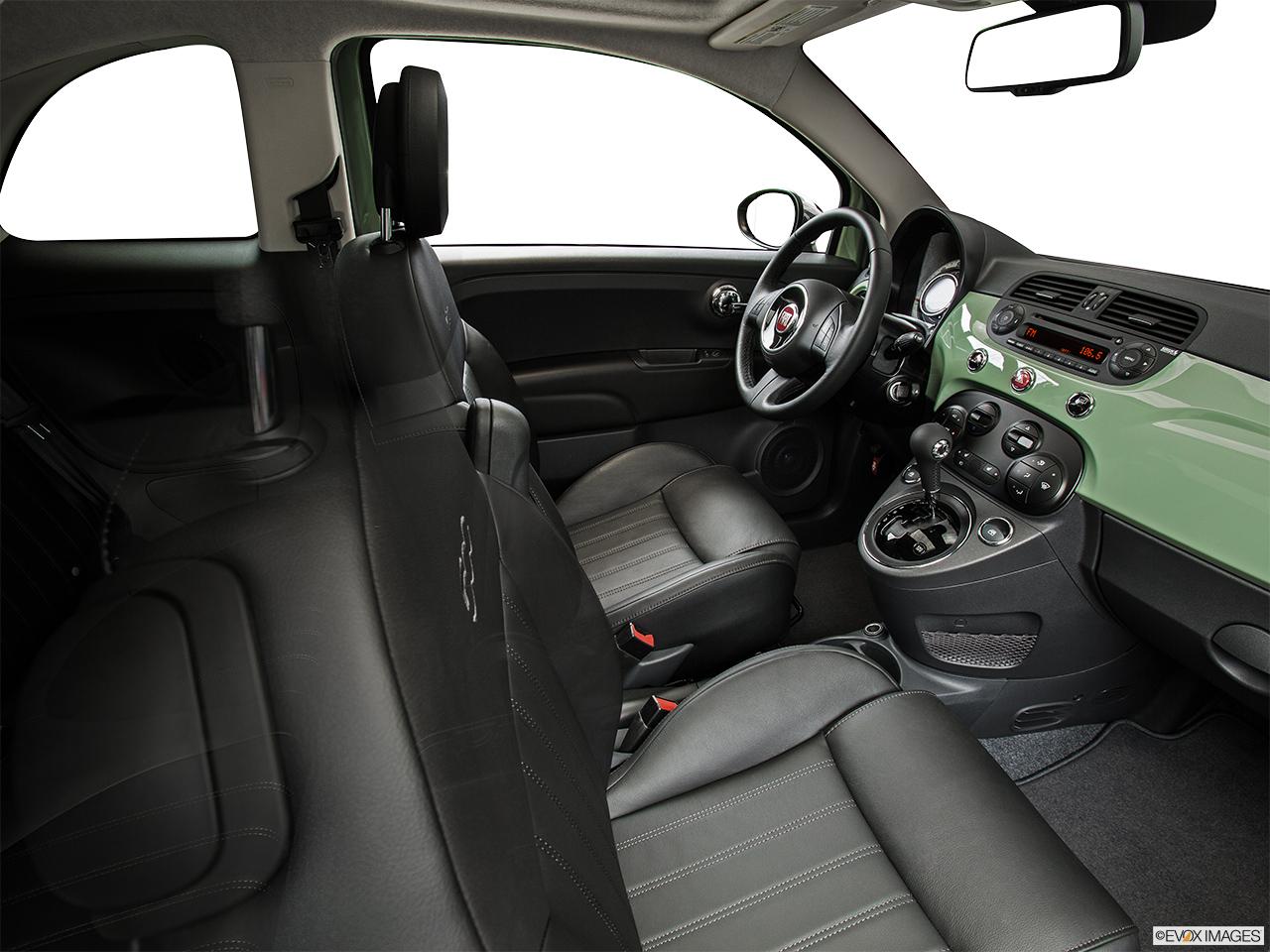 2014 fiat interior. 2014 fiat 500 2 door 1957 edition hatchback fake buck shot interior from passenger fiat 0