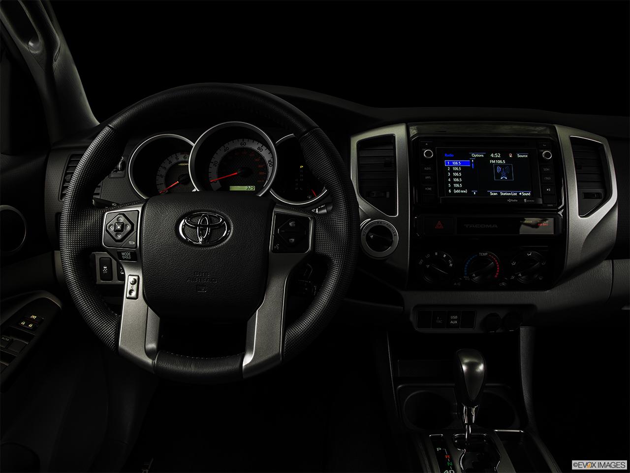 2015 Toyota Tacoma 4WD Double Cab V6 MT   Centered Wide Dash Shot   U0027night