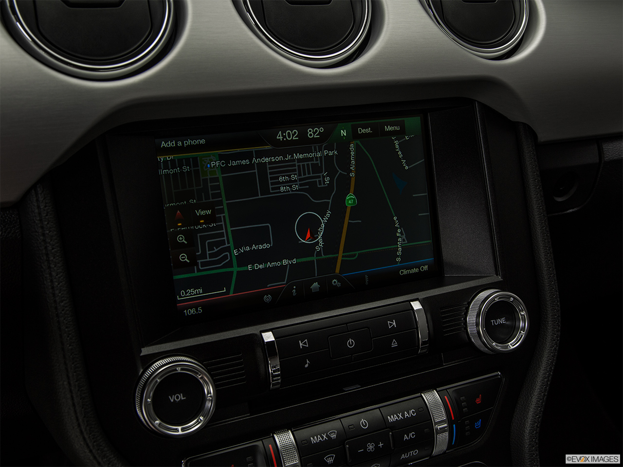 2015 ford mustang 2 door fastback ecoboost driver position view of navigation system