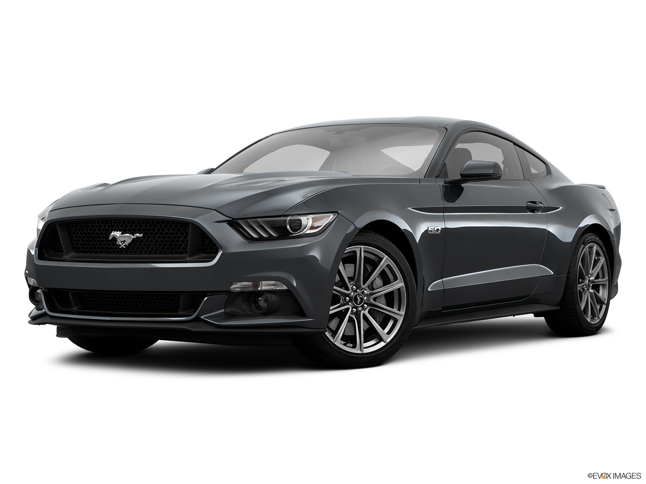 2015 Ford Mustang 2dr Convertible EcoBoost Premium - Front angle medium view