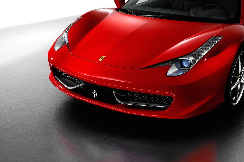 2014 Ferrari 458 Italia Coupe Close Up Of Grill