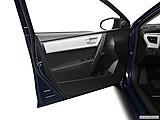 2015 Toyota Corolla 4dr Sedan CVT LE Plus - Inside of driver's side open door, window open