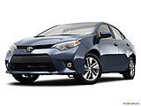 2015 Toyota Corolla 4dr Sedan CVT LE Plus - Front angle view, low wide perspective