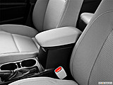 2015 Toyota Corolla 4dr Sedan CVT LE Plus - Front center console with closed lid, from driver's side looking down