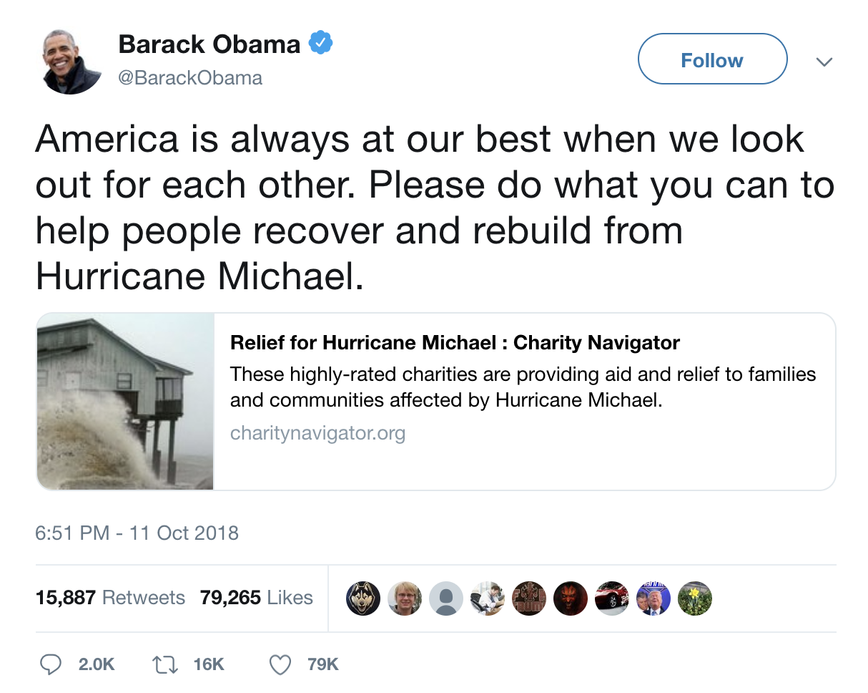 President Obama Praises Americans? Generosity Header Image