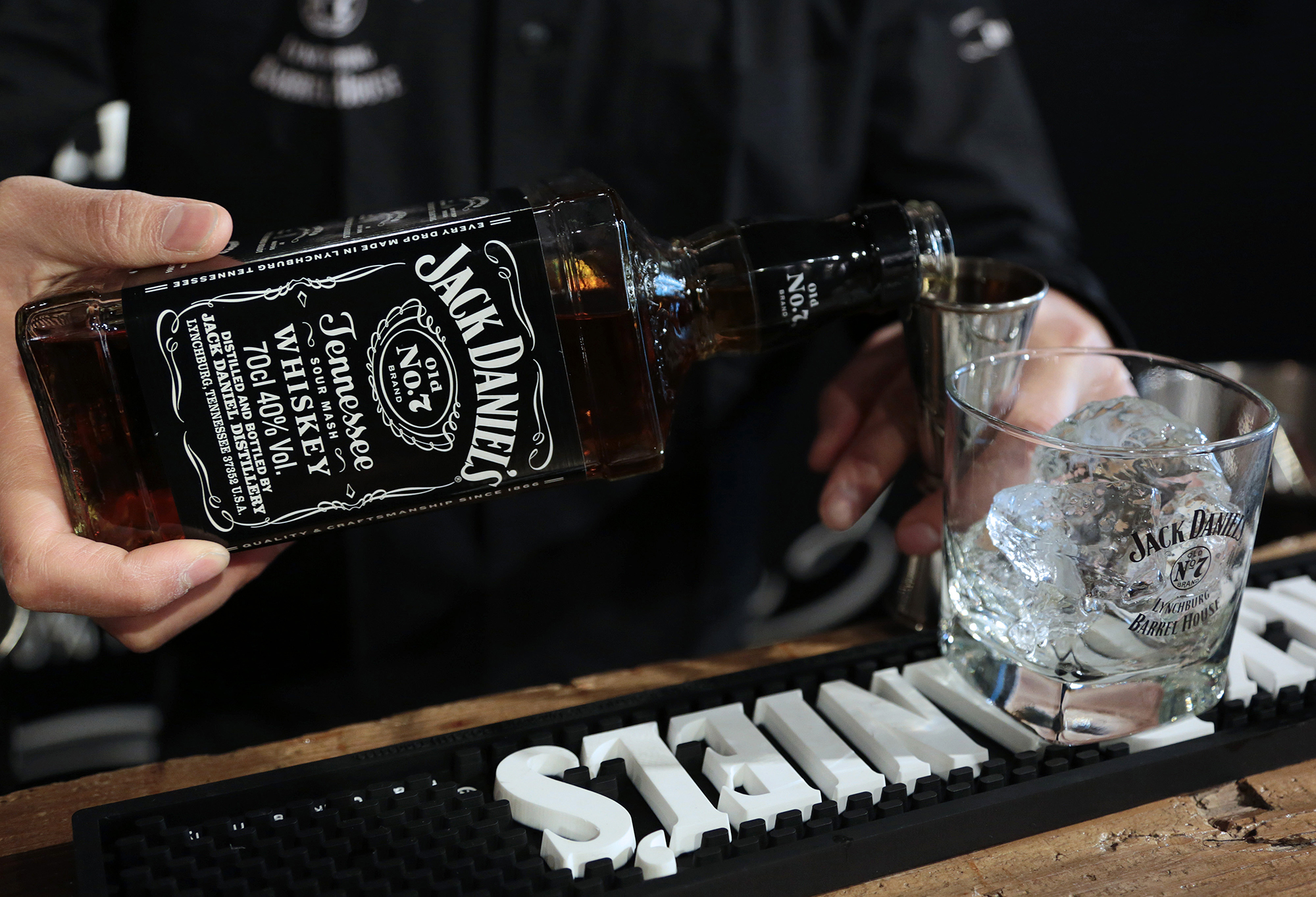 The trade war is hurting Jack Daniel's, but customers aren't paying for it