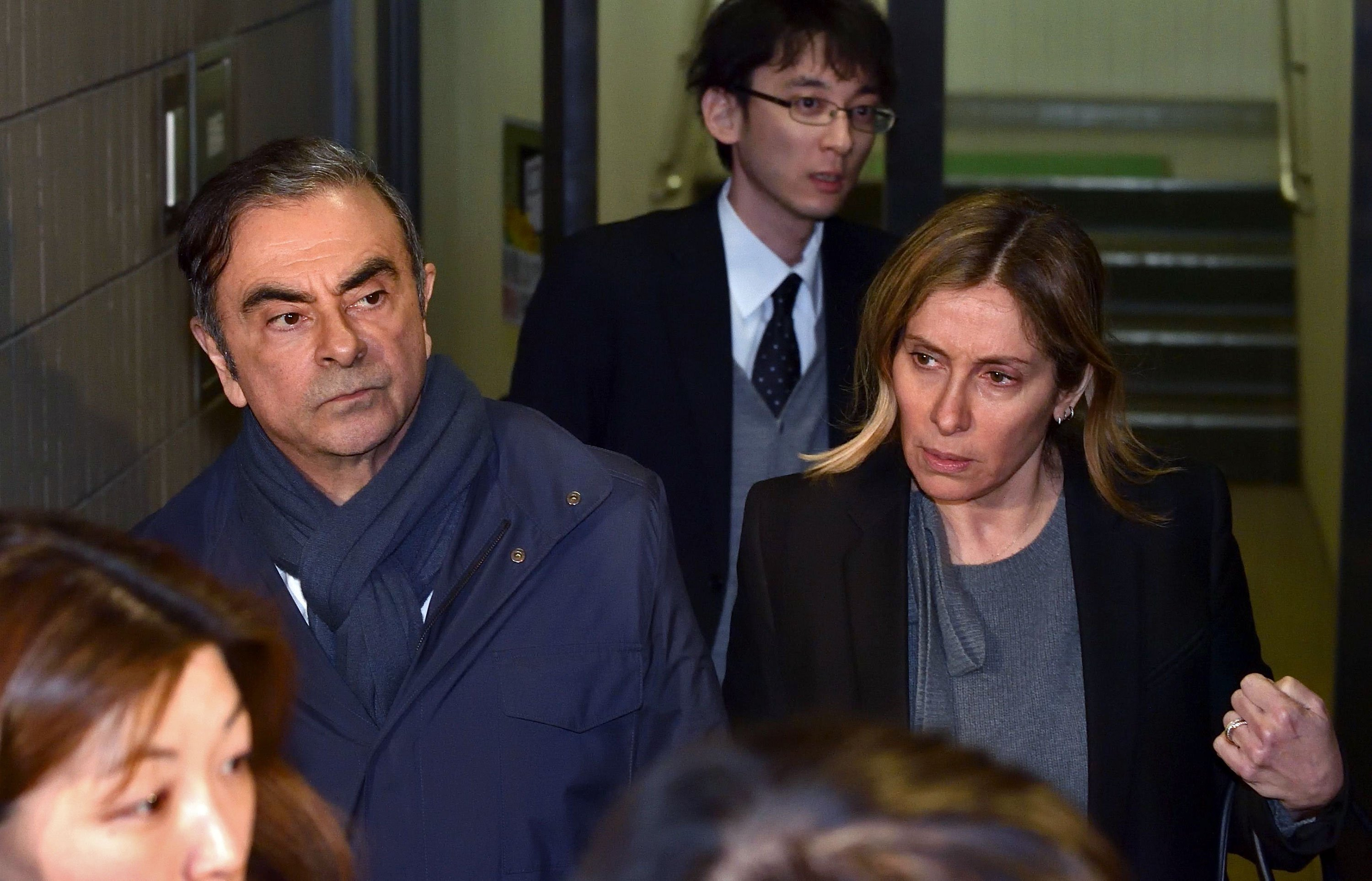 Carlos Ghosn's wife asks French President Macron to help her husband