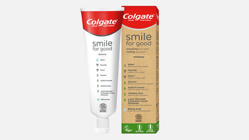 Image for Colgate finally launched its recyclable toothpaste tube. It's made from the same type of plastic as milk jugs