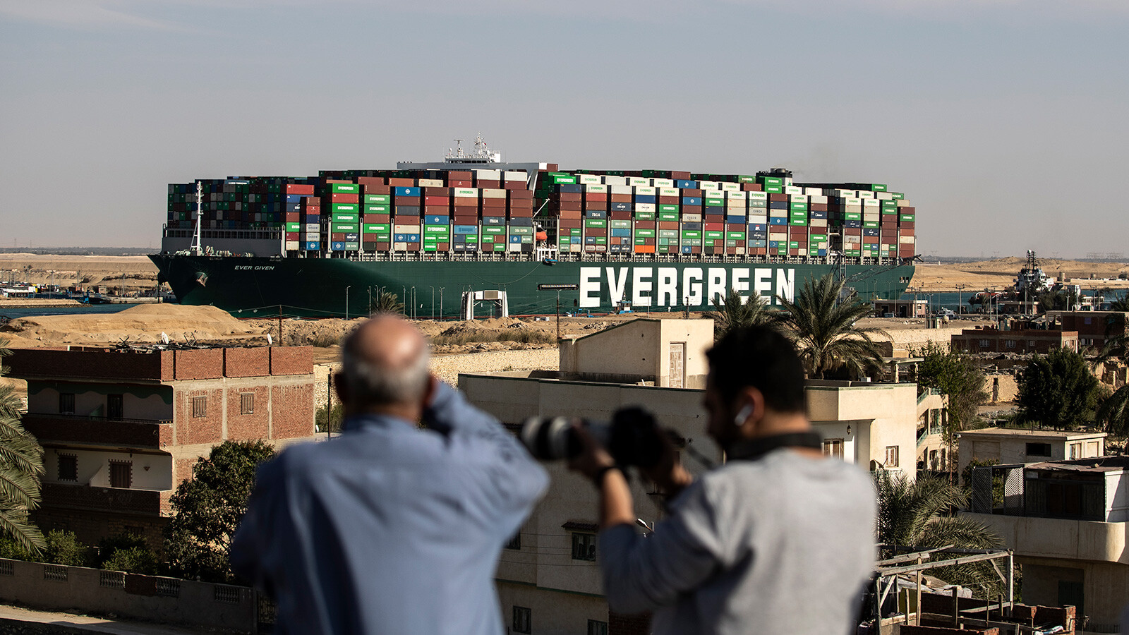 The Ever Given is finally leaving the Suez Canal