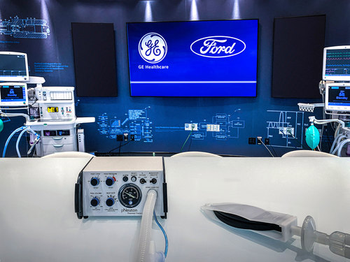 Image for Ford to build 50,000 ventilators in 100 days