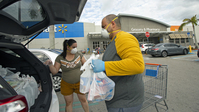 Kroger and Walmart test one-way aisles as a coronavirus preventative measure