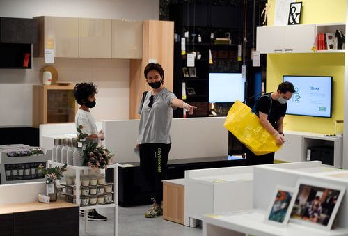 Image for Ikea's online sales surged as people turned homes into offices and schools