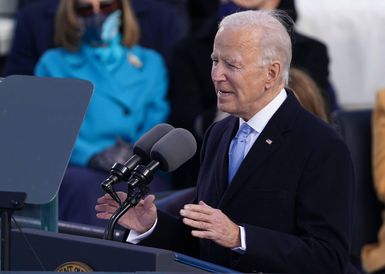 Biden addresses nation's information crisis: We must 'defeat the lies'