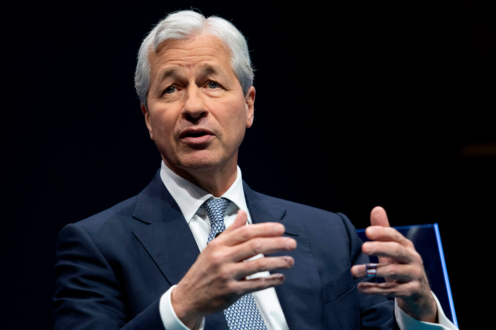 JPMorgan Chase just reported a record quarterly profit. But its CEO is still nervous