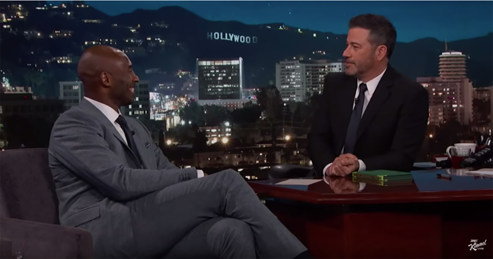 Jimmy Kimmel ditched his studio audience for a somber tribute to Kobe