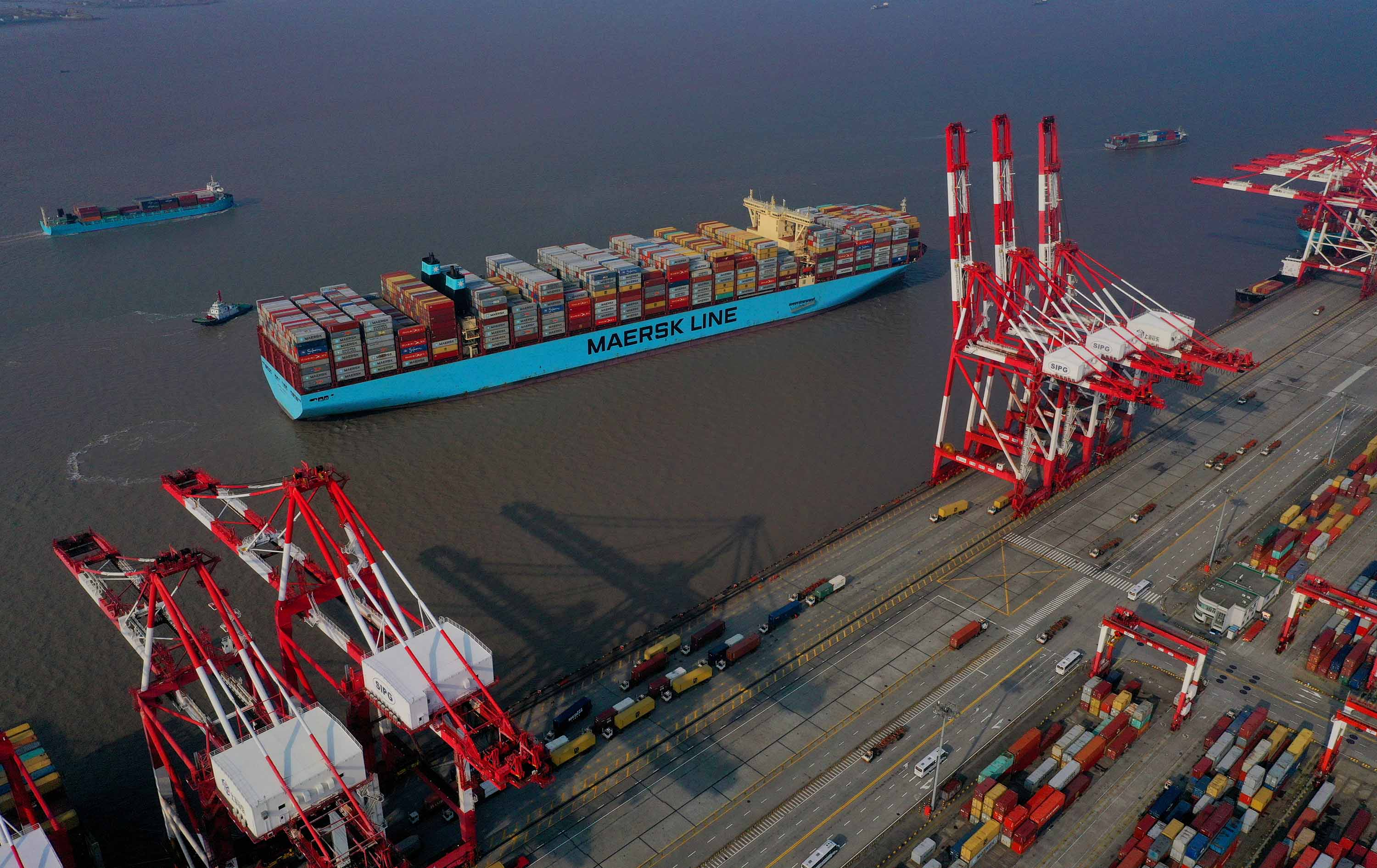 Maersk operates massive container ships. It's canceled 50 sailings over coronavirus