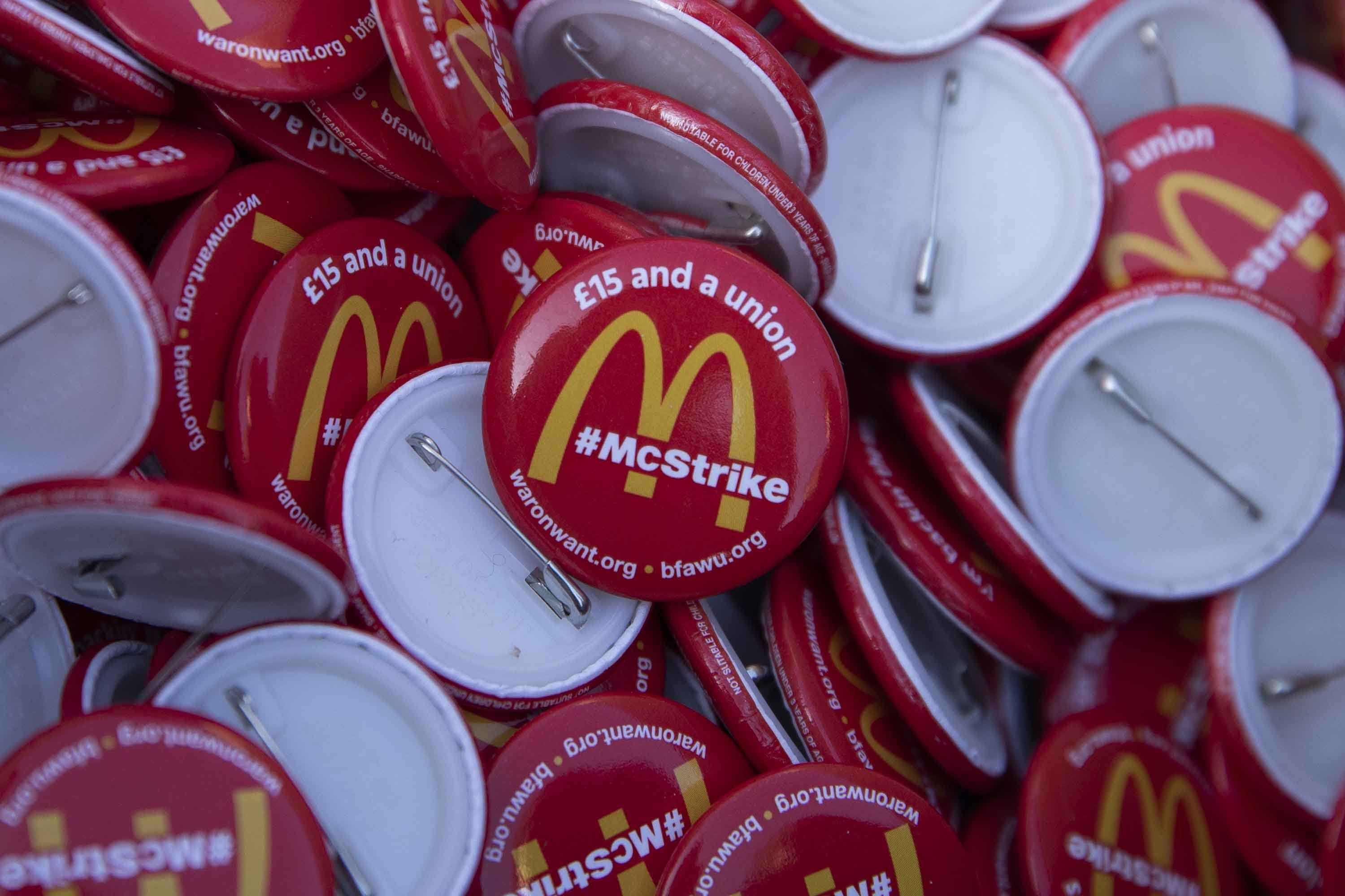 McDonald's workers strike in London to demand higher pay