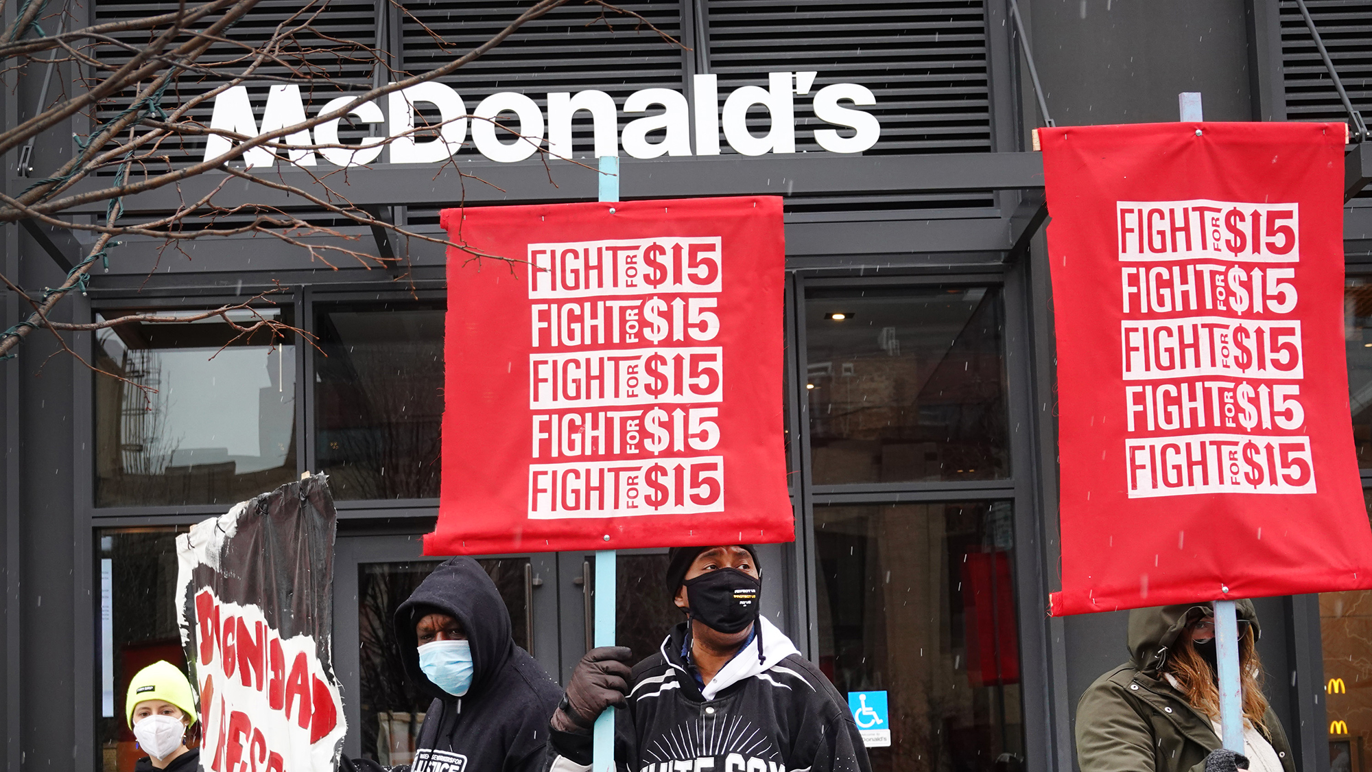 Fight for $15 minimum wage heats up after Biden's endorsement