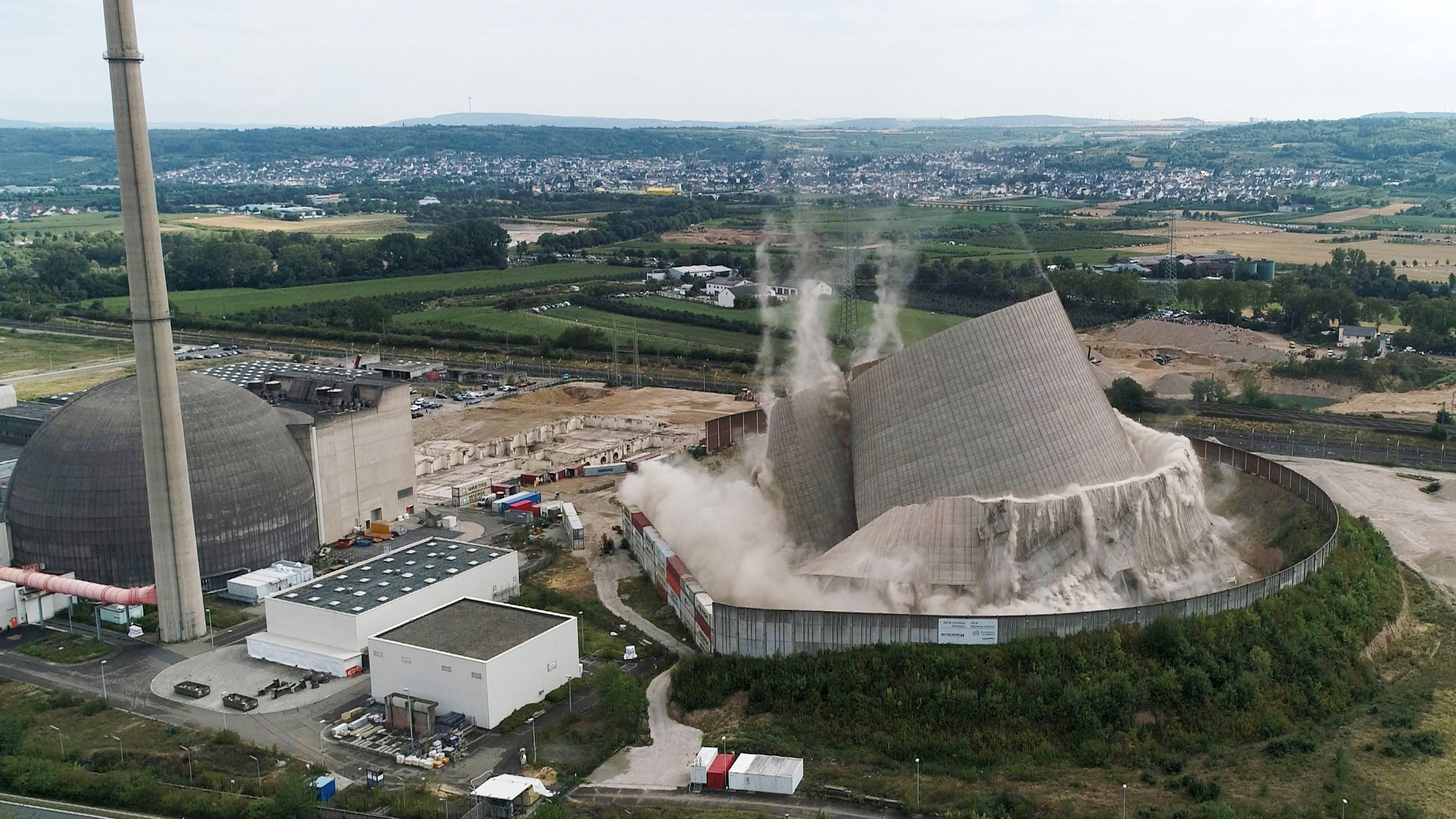How to demolish a nuclear power plant without blowing it up