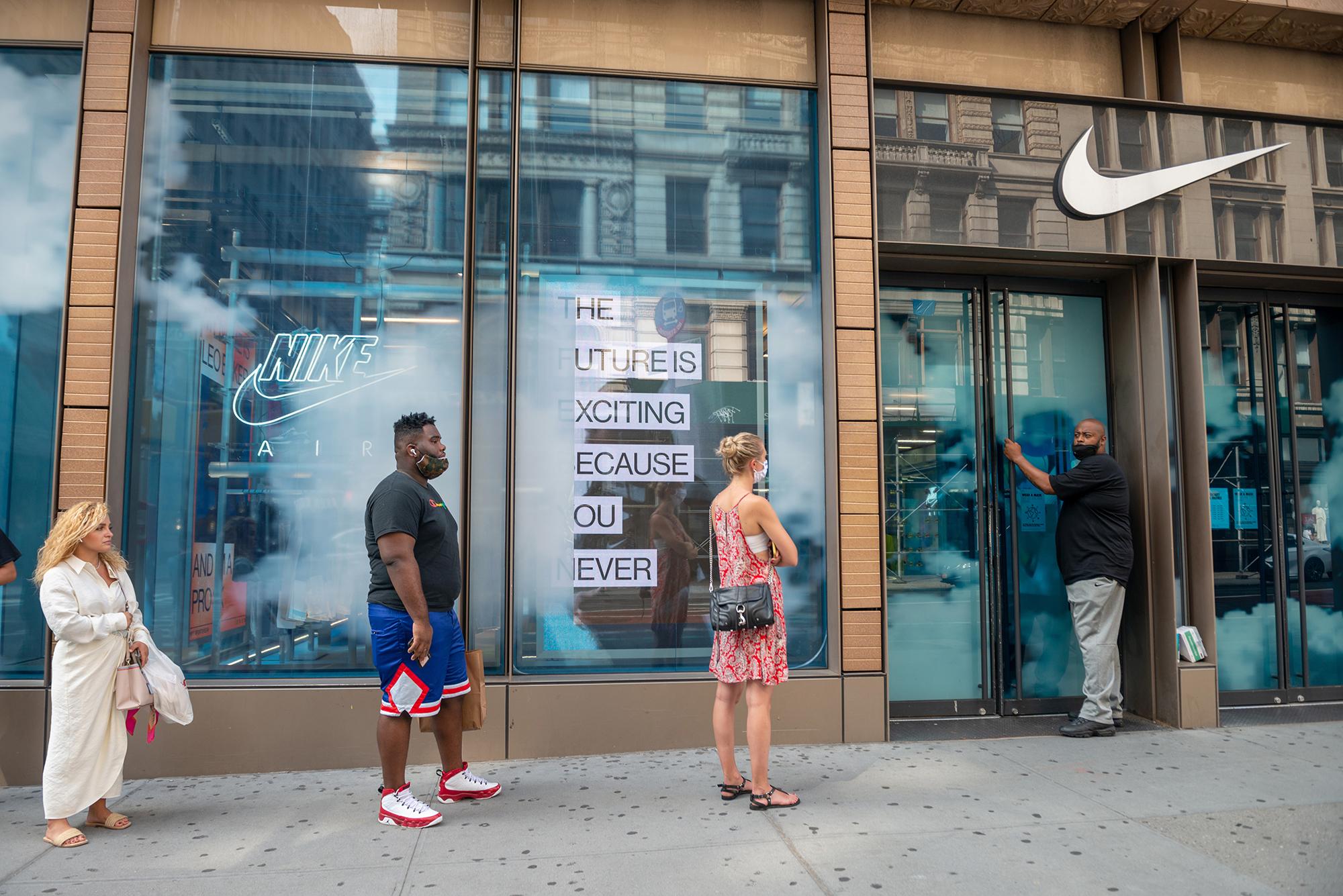 Nike shares spike 8% after blockbuster sales