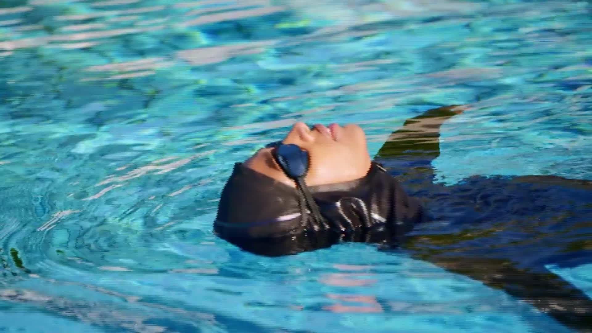 A new Nike swimwear line includes a swim hijab