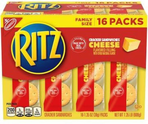 Image for Ritz cheese cracker sandwiches recalled after they were found to be peanut butter instead