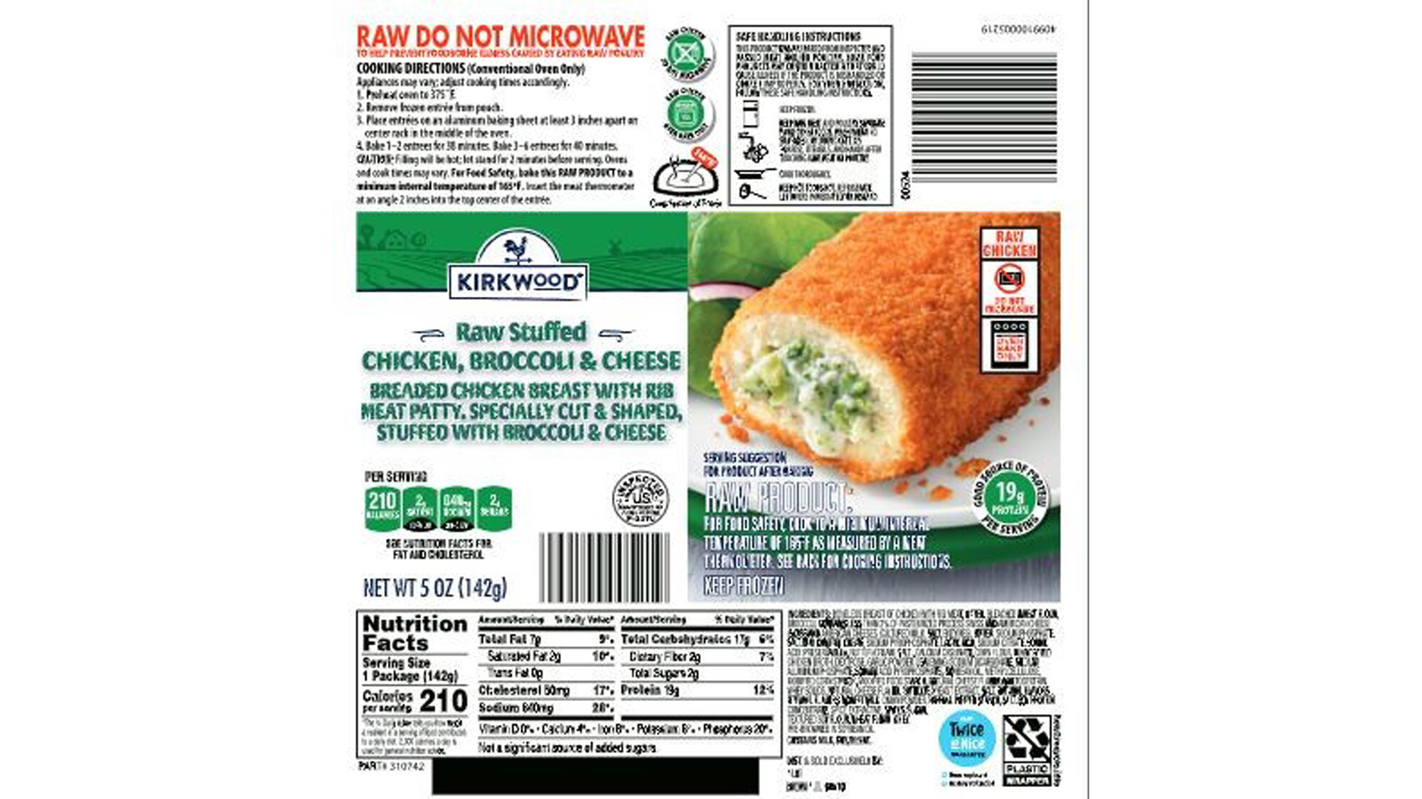 Nearly 60,000 pounds of frozen raw chicken products sold at Aldi and other stores recalled