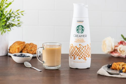 Image for Starbucks, in partnership with Nestlé, is launching a line of creamers to reach customers at home