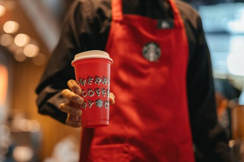 Image for At Starbucks Pop-Up Parties, over 1,000 locations will give away free drinks until the new year