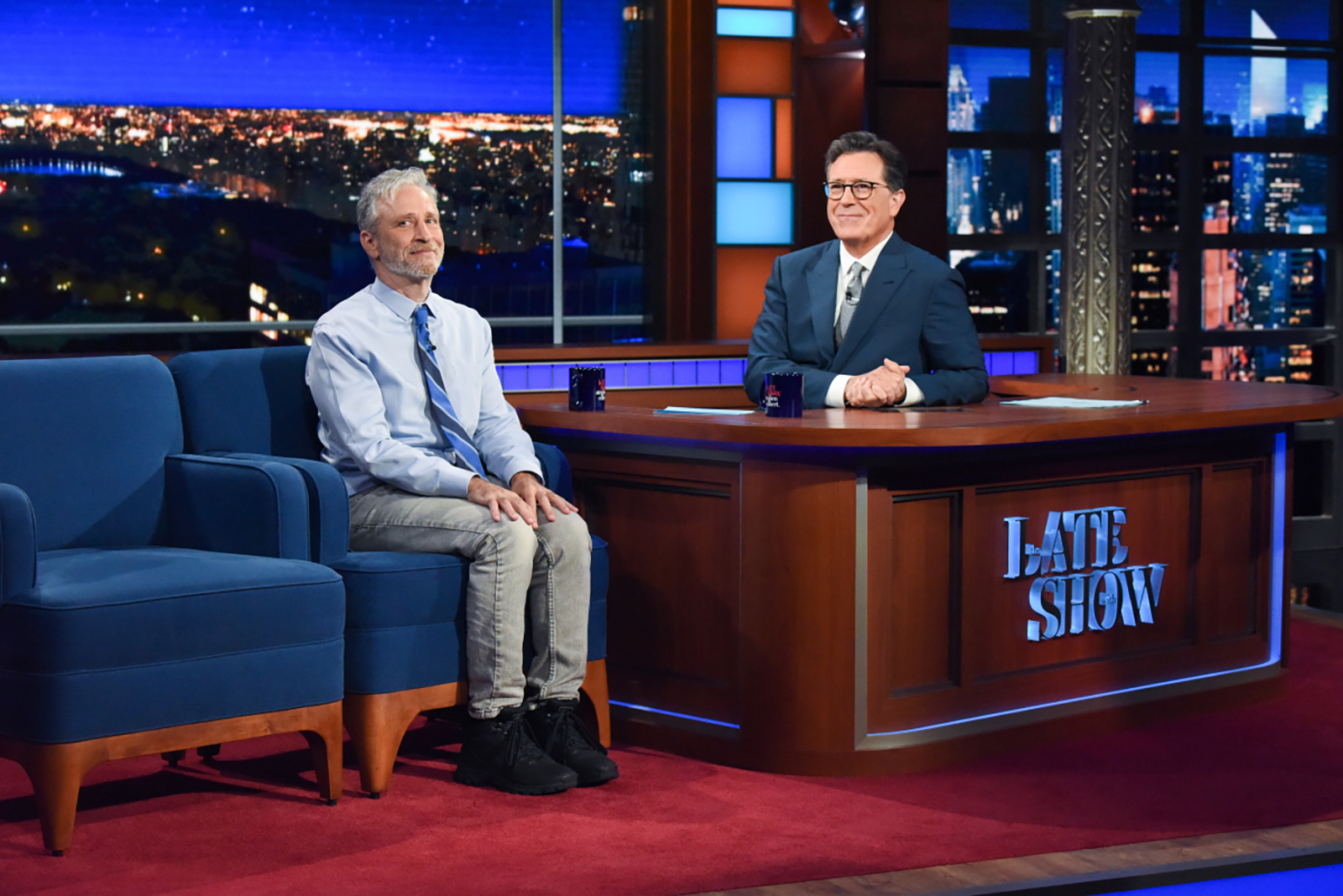 'So… how ya been?': Stephen Colbert welcomes an audience back to 'The Late Show'