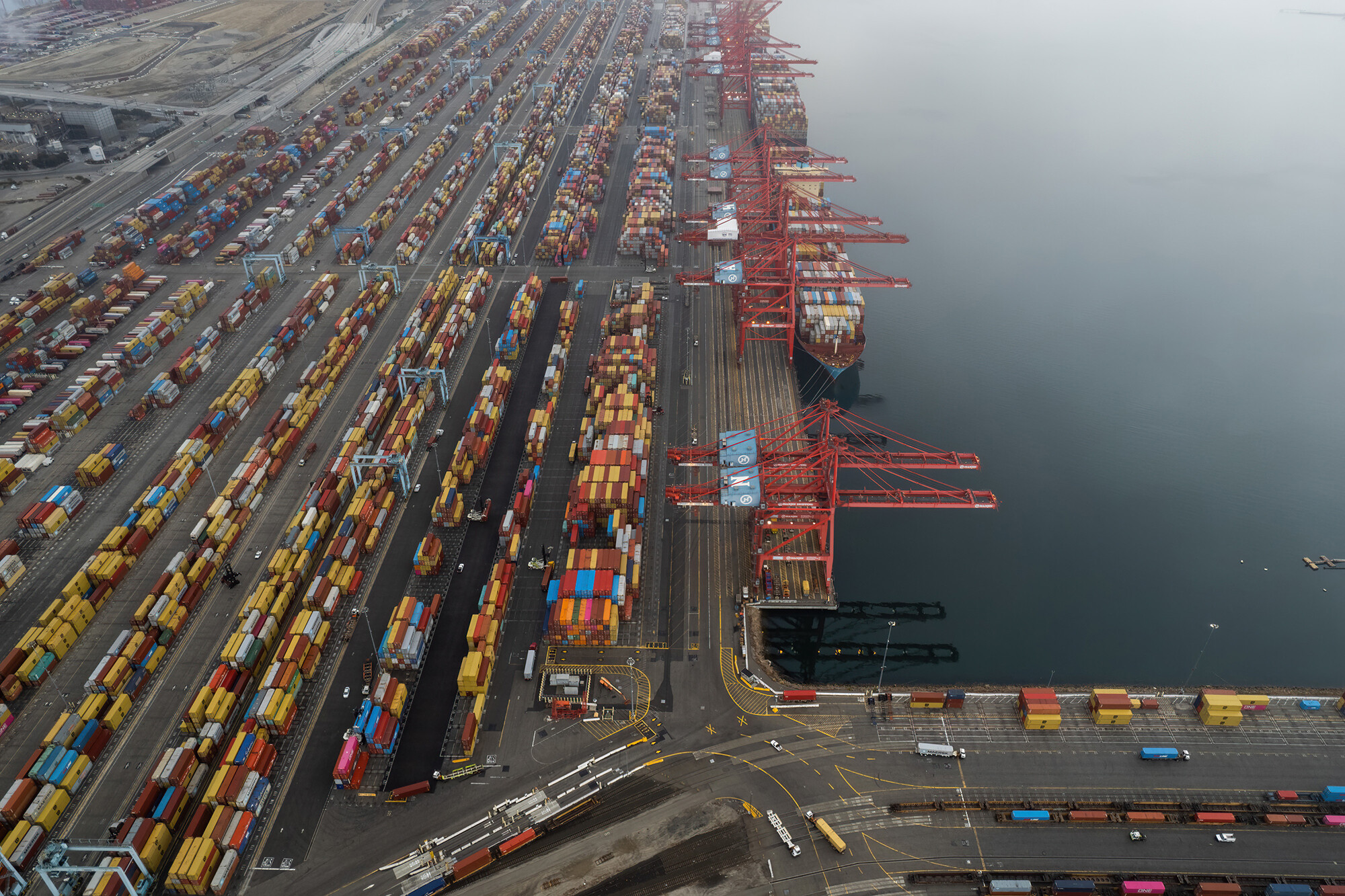 $24 billion in goods is floating outside California's biggest ports
