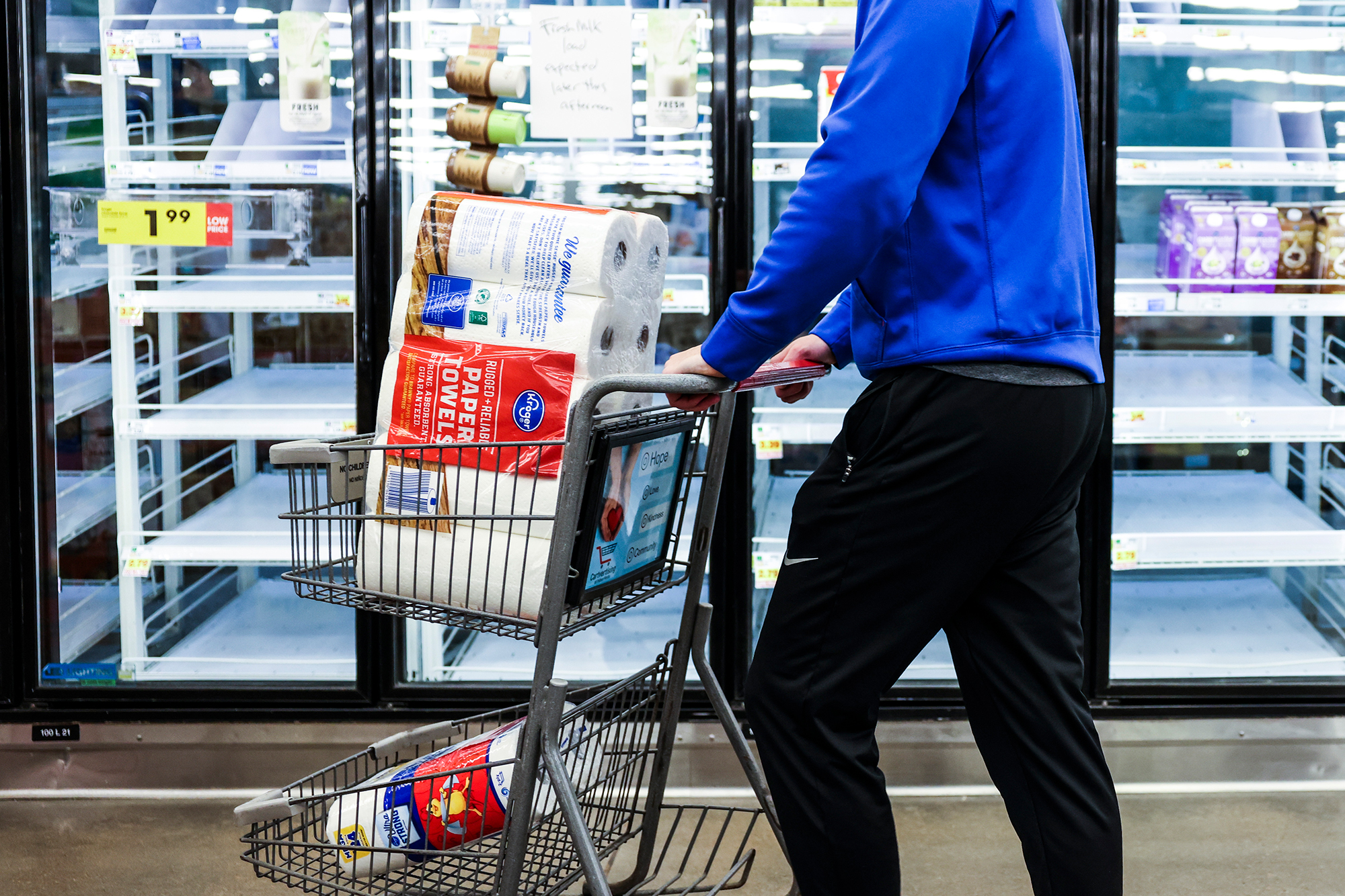 Americans are buying less toilet paper and wipes