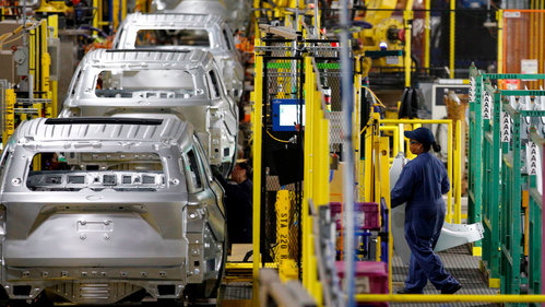 Image for Michigan pickup truck factory shuts down; Detroit buses roll