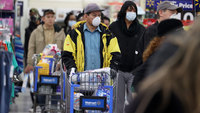 Walmart limits the number of customers in stores to help fight the spread of coronavirus