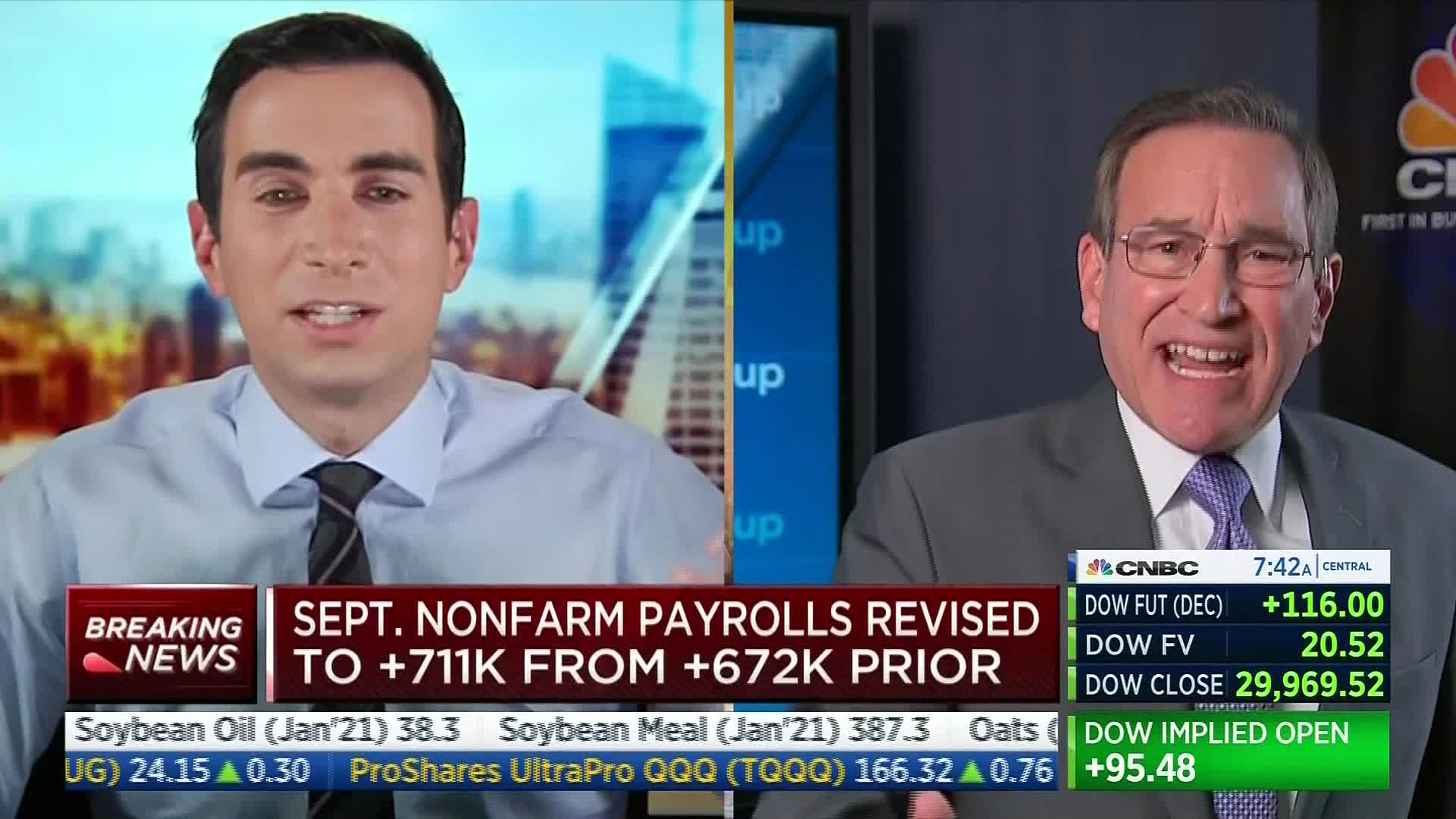 CNBC's Rick Santelli starts shouting match on air over Covid-19 restrictions